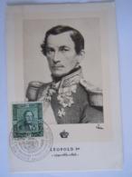België Belgium 1949 Maximum Carte Eeuwfeest 1ste Zegel Centenaire 1er Timbre Koning Roi Leopold I Cob 807 - Tarjetas – Máxima