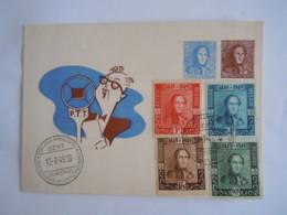 België Belgium 1949 FDC Gent 1000 Handel P.T.T. Leopold I 100 Jaar 1ste Zegel 1er Timbre Koning Roi Cob 807-810 - ....-1951