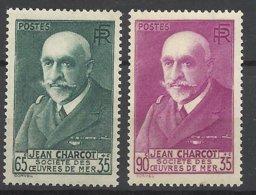 France N°   377 Et 377A Jean Charcot Oeuvres De La Mer  Neufs  * * TB= - MNH VF  Soldé à  Moins De 15 % ! ! ! - Châteaux
