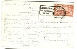 1933 Good 1 1/2 P Stamp On Postcard War Memorial And Boulevard - Gibilterra