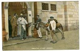 Gibraltar Street VENDORS With Donkey Color Litho By Ferray And Romero C. 1908 Photobarytkarte - Gibilterra