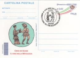 Italia 2012 Borgo Faiti Vite E Vino Nella Mitologia Ed Archeologia Circe E Ulisse Annullo Cartolina - Vini E Alcolici
