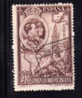 SPAIN ESPAÑA SPAGNA 1930 SPANISH AMERICAN UNION EXIBITION SEVILLE SIVIGLIA 10p DARK REDDISH BROWN USED USATO OBLITERE' - 1889-1931 Regno: Alfonso XIII