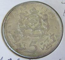 Maroc - Monnaie 5 Dirhams 1965 En Argent 720 - SUP - Sous Capsule - Marruecos