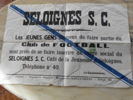 Seloignes Clud De Football - Afiches