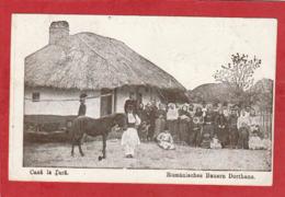 CPA: Roumanie - Casa La Tara - Rumanisches Bauern Dorthaus - Roumanie