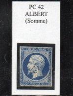 Somme - N° 14Aa Obl PC 42 Albert - 1853-1860 Napoléon III