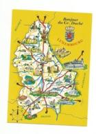 -Carte Contour Géographique De LUXEMBOURG - Carte Geografiche