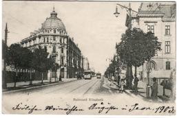 Sofia Bulevard Elisabeth With Trams And Street Life Sent 1903 - Bulgaria