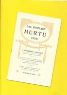 """Catalogue 1924 Cycles """"HURTU"""" 12 Pages + Couverture Format 13 X 21 Cm Env.. - Cyclisme"""