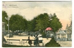 Piešťany KUPELE PROMENADA  Street Life Color Postcard C. 1908 - Slovacchia