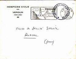 FRANCE - 1962 - Lettre En Franchise (Sécurité Sociale ) De Verdun  Pour Auxerre - France