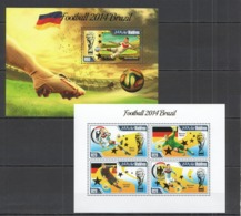 ML440 2014 MALDIVES SPORT FOOTBALL WORLD CUP BRAZIL CHAMPIONS GERMANY !! GOLD KB+BL MNH - Coppa Del Mondo