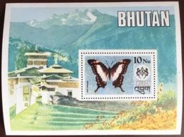 Bhutan 1975 Butterflies Minisheet MNH - Farfalle