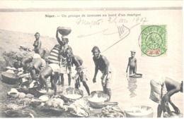 MOPTI Haute Sénégambie Et Niger Carte Postale Ob 9/03/1907 5c Type Groupe Vert Jaune Yv 4  Circulée Dest Paris - Upper Senegal And Nigeria (1904-1921)
