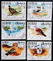 DUBAI Oiseaux 6 Timbres Oblitérés BE - Dubai