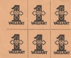 BILLET DE 1 Vaillant En Bloc De 6 - Specimen