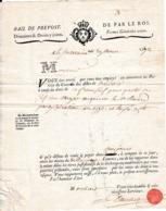 1792 - LA SOUTERRAINE (23) DROIT DE FRANC-FIEF - Fermes Générales Unies - BAIL DE PREVOST - Documents Historiques