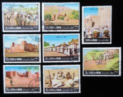 OMAN Lot De 8 Timbres REVOLTERS - Oman