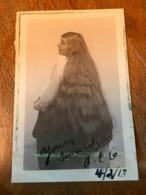 Carte Postale Ancienne CPA Londres Cheveux Longs Femme Curiosité 1918 Non Circulé - Silhouette - Scissor-type