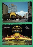 "United States NV Nevada Las Vegas  Oldest Casino "" The Golden Nugget "" ( 2 Post Cards ) - Las Vegas"