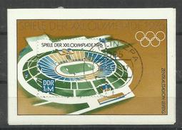 """DDR Bl.46 """"""""XXI. Olympische Spiele 1976 """" Gestempelt Mi: 4,00 - DDR"""