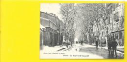 DIGNE Rare Le Boulevard Gassendi Sous La Neige (Constans Et Davin) Alpes De Haute Provence (04) - Digne