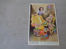 Carte ( 451 )  Thème  Disney    Blanche Neige  Sneeuwwitje  7 Dwergen  Nains ( Nain ) - Snow White & Seven Dwarfs - Disney