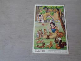 Carte ( 452 )  Thème  Disney    Blanche Neige  Sneeuwwitje  7 Dwergen  Nains ( Nain ) - Snow White & Seven Dwarfs - Disney