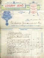 KASSA 1899. Legány Jenő, Bútoráruház Fejléces,céges Számla  /  Furniture  Letterhead Corp. Bill - Vieux Papiers
