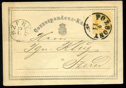 POZSONY 1867. Díjjegyes Levlap, Hátoldali Céges Levélzáróval - Hongrie