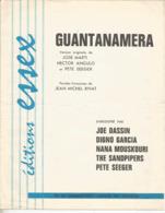 Partition Musicale Ancienne  , JOE DASSIN ,NANA MOSKOURI... GUANTANAMERA ,frais Fr 1.85 - Partitions Musicales Anciennes