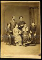 1880. Ca. Ismeretlen Család, Régi Fotó  21*14 Cm - Other