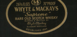 "Whyte & Mackay`s Rare Old Scotch Whisky ""Supreme"" (Scotland) - Whisky"