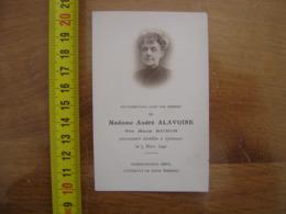 FAIRE PART DECES 1940 Madame Andre ALAVOINE Nee Marie MICHON Quimper - Décès