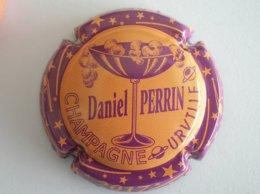 Capsule Champagne Perrin Daniel, N° 60a, Orange, Contour Violet - Champagne