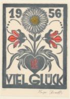 Nieuwjaarskaart 1956 Hugo Krafft - Hugo Krafft (gesigneerde Houtsnede) - Sin Clasificación