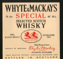 Whyte & Mackay`s Special Selected Scotch Whisky (Scotland) - Whisky