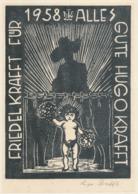 Nieuwjaarskaart 1958 Friedel Und Hugo Krafft - Hugo Krafft (gesigneerd) - Sin Clasificación