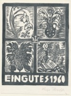 Nieuwjaarskaart 1960 Hugo Krafft - Hugo Krafft (gesigneerd) - Sin Clasificación