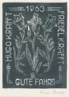 Nieuwjaarskaart 1963 Friedel Und Hugo Krafft - Hugo Krafft (gesigneerd) - Sin Clasificación