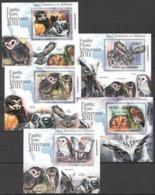 Comoros, 2011. [cm11L18] Birds (Deluxe-blocks) - Owls