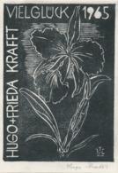 Nieuwjaarskaart 1965 Friedel Und Hugo Krafft - Hugo Krafft (gesigneerd) - Sin Clasificación