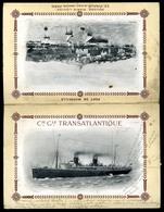 1909. Paquebot  La Provence, Dekoratív Menükártya - Vieux Papiers