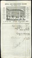 AUSZTRIA Bécs 1861. Hotel Römischen Kaiser, Dekoratív Fejléces , Metszetes Számla  /  Vienna Decorative Letterhead Bill - Sin Clasificación