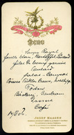 BÉCS Hotel Victoria, Dekoratív  Menükártya  /  MENU CARD Decorative, Hotel Victoria Vienna - Sin Clasificación
