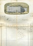 FRANCIAORSZÁG Párizs 1880. Cca Hotel Des Princes, Dekoratív Fejléces , Litografált Számla  /   Decorative Letterhead Bil - Sin Clasificación