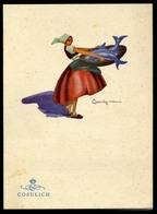 Cosulich Mn Vulcania, Dekoratív, Szignós Menükártya  /  MENU CARD Decorative, Signed - Sin Clasificación
