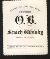 O.B. Scotch Whisky (Ansells Brewery, Birmingham, England) - Whisky