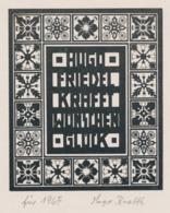 Nieuwjaarskaart 1967 Friedel Und Hugo Krafft - Hugo Krafft (gesigneerd) - Sin Clasificación